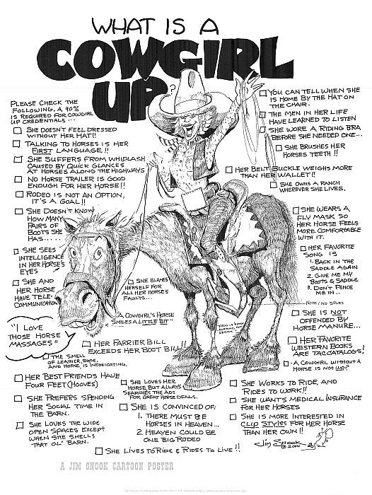 Cowgirl Up Poster Jim Snook Studio