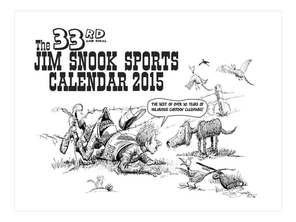 2014 Jim Snook Sports Calendar Hunting Cartoons Calender