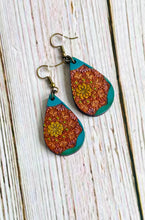 Hand Painted Wood Mandala Earrings - Everything Beautiful Boutique Handmade Jewelry