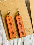 Hand Painted Wood Arrow Earrings (more colors available) - Black Cat Crafts