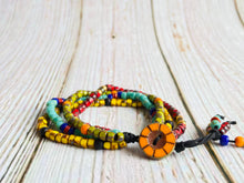 Four Strand Beaded Bracelet - Black Cat Modern Boho Handmade Jewelry