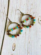 Beaded Earrings in Southwest with Matching Necklace - Black Cat Modern Boho Handmade Jewelry