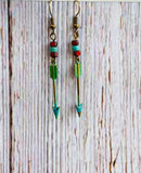 Antique Patina Arrow Earrings & Necklace - Black Cat Modern Boho Handmade Jewelry