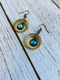 Vintage Glass Orb Earrings - Black Cat Crafts