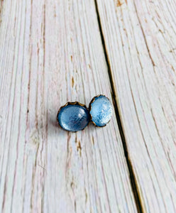 Vintage Glass Studs - Black Cat Modern Boho Handmade Jewelry