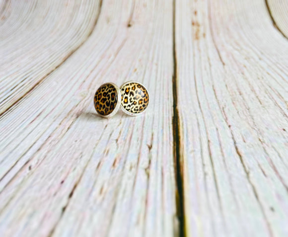 Leopard Print Studs - Black Cat Crafts