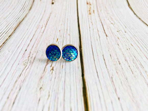 Magical Mermaid Studs - Black Cat Crafts