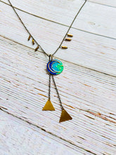Triangle Moon Necklace - Black Cat Modern Boho Handmade Jewelry