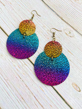 Rainbow Stingray Lily Earrings - Black Cat Modern Boho Handmade Jewelry