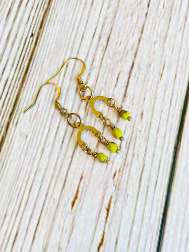 Mini Olivine Dangle Earrings - Black Cat Modern Boho Handmade Jewelry