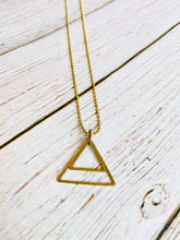 Triangle Necklace - Black Cat Modern Boho Handmade Jewelry