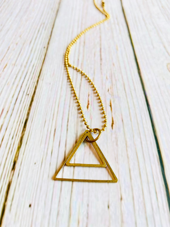 Triangle Necklace - Black Cat Crafts Handmade Jewelry