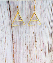 Triangle Earrings - Black Cat Modern Boho Handmade Jewelry