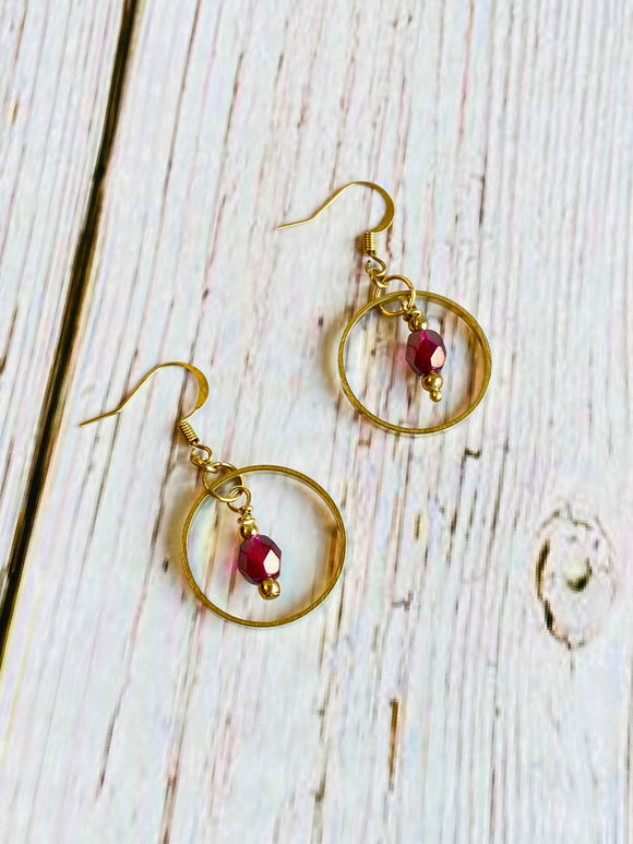 Madder Rose Beaded Earrings