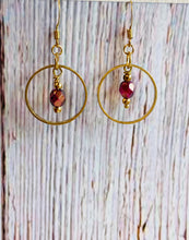 Madder Rose Beaded Earrings - Black Cat Modern Boho Handmade Jewelry