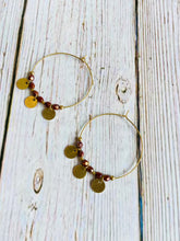 Umber & Brass Hoop Earrings - Black Cat Modern Boho Handmade Jewelry