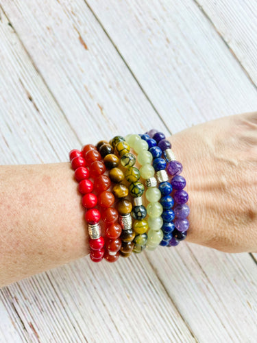 Gemstone Beaded Bracelet (7 Colors) - Black Cat Modern Boho Handmade Jewelry