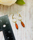 Small Oval Window Drop Earrings (Four Colors) - Black Cat Modern Boho Handmade Jewelry