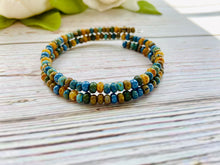 Double Wrap Beaded Bracelet - Black Cat Modern Boho Handmade Jewelry