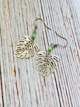 Silver Monstera Leaf Earrings - Black Cat Modern Boho Handmade Jewelry