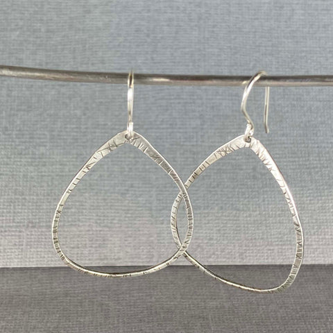 Textured Teardrop Earrings