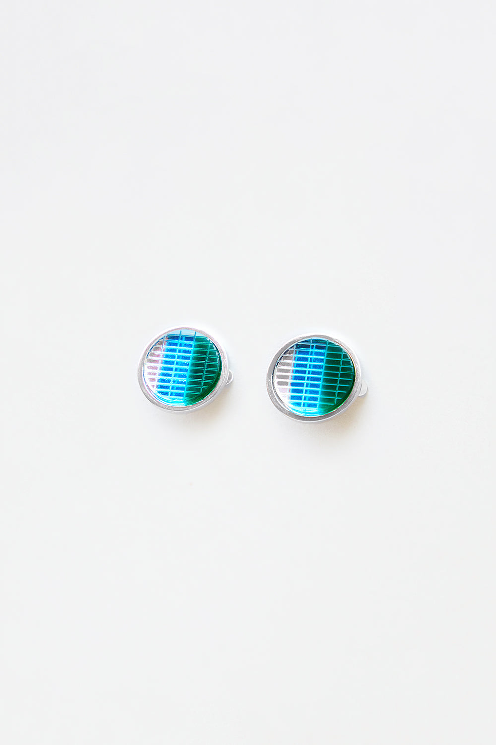 Blue Blinker Earrings