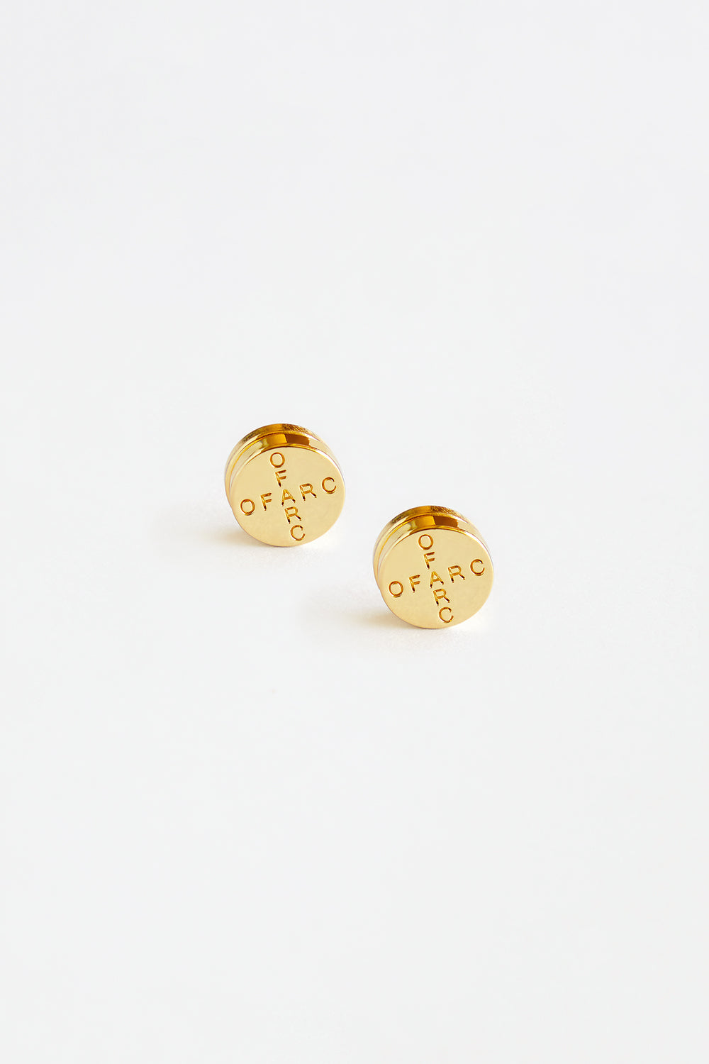 Gold Pill Earrings