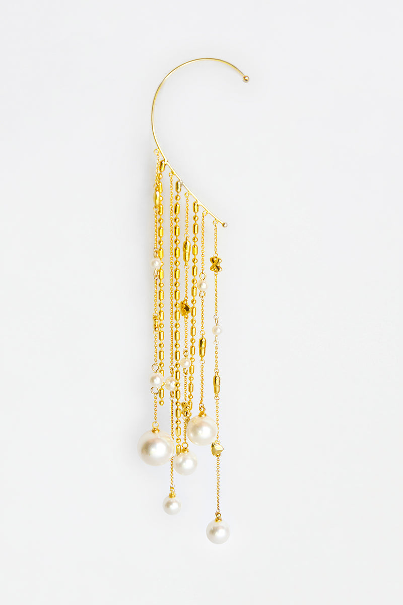 Gold Pills Ear Cuff