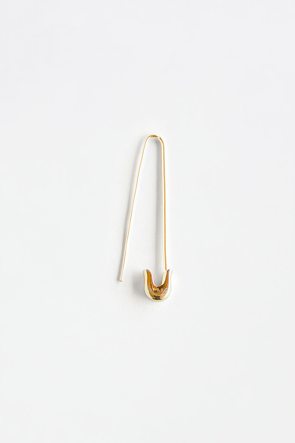 Gold Safety Pin Earring