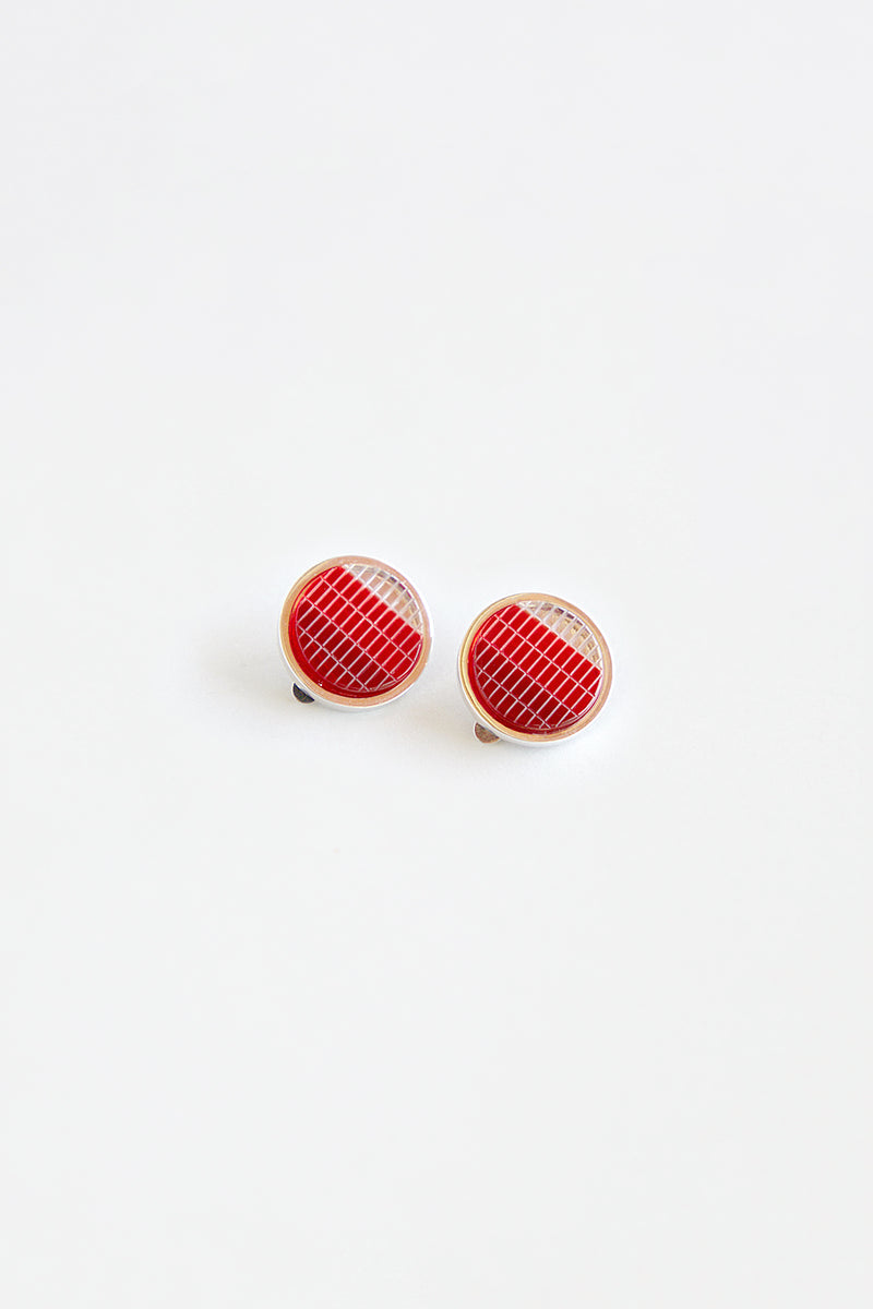 Red Blinker Earrings