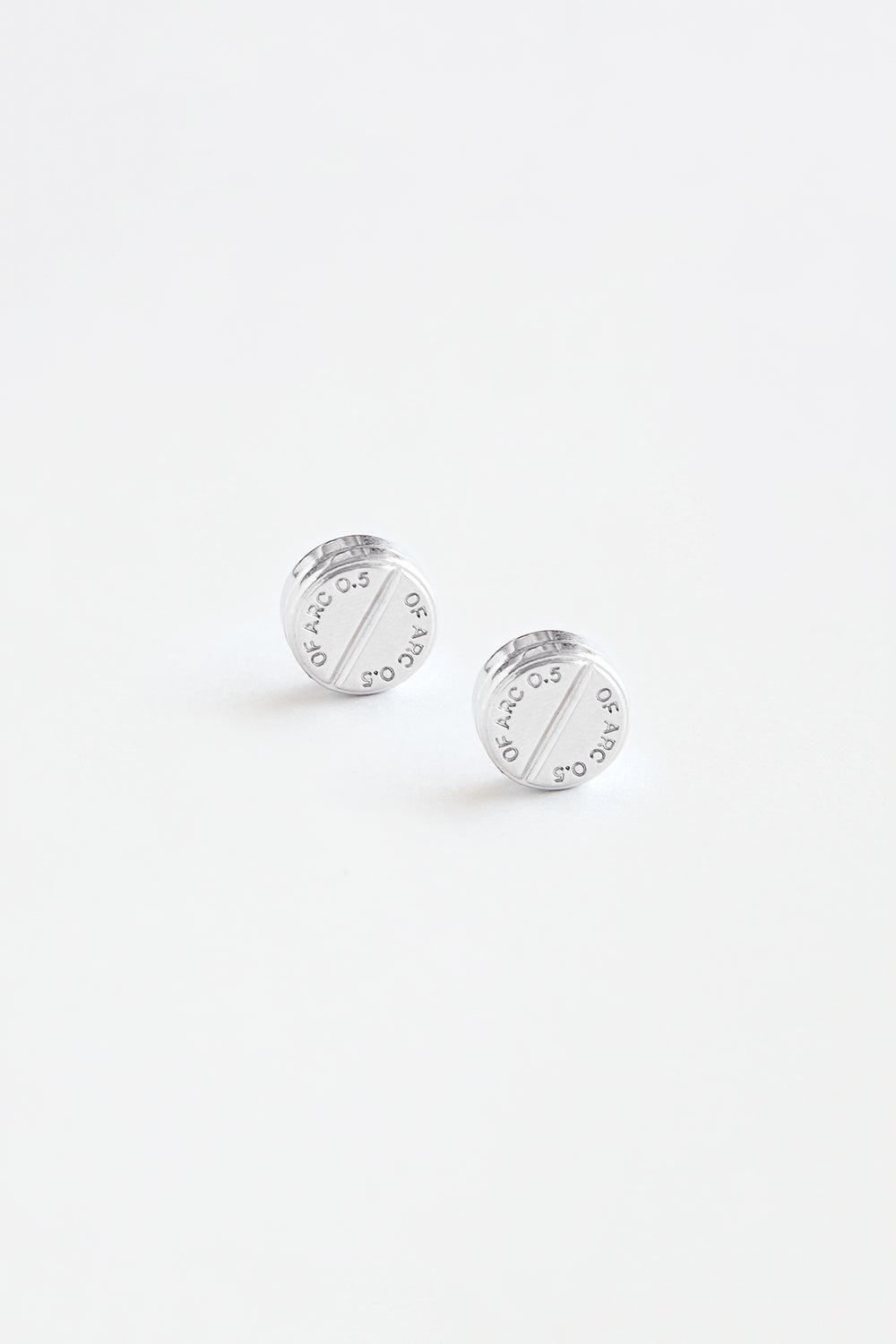Silver Pill Earrings