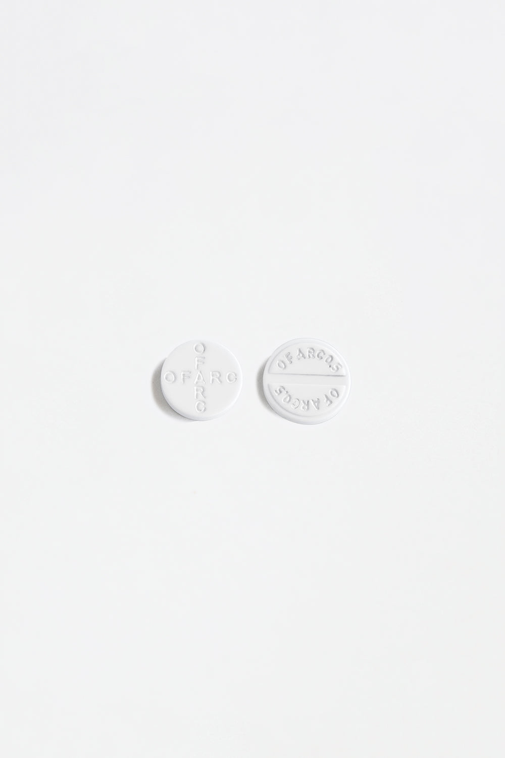 White Pill Earrings
