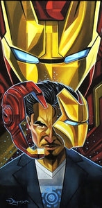 Iron Man Transformation Original Painting by Tim Rogerson