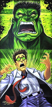 Load image into Gallery viewer, Incredible Hulk Transformation Original Painting by Tim Rogerson