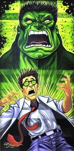 Incredible Hulk Transformation Original Painting by Tim Rogerson