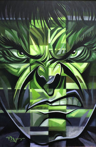 Incredible Hulk Original Painting by Tim Rogerson