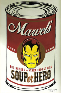 SOUPer Hero - Iron Man Original Painting by Tim Rogerson