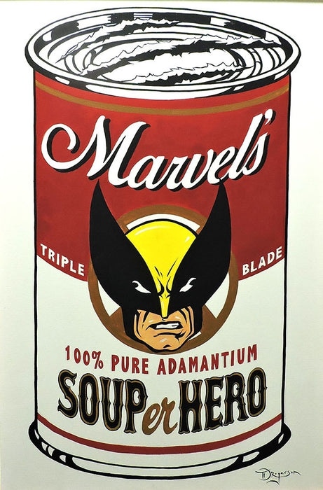 SOUPer Hero - Wolverine Original Painting by Tim Rogerson