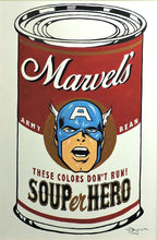 Load image into Gallery viewer, SOUPer Hero - Captain America Original Painting by Tim Rogerson