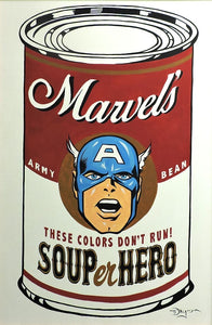SOUPer Hero - Captain America Original Painting by Tim Rogerson