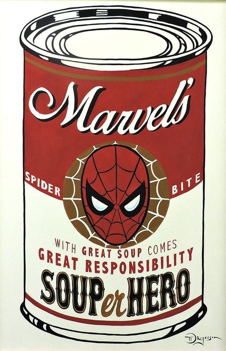 SOUPer Hero - Spider-Man Original Painting by Tim Rogerson