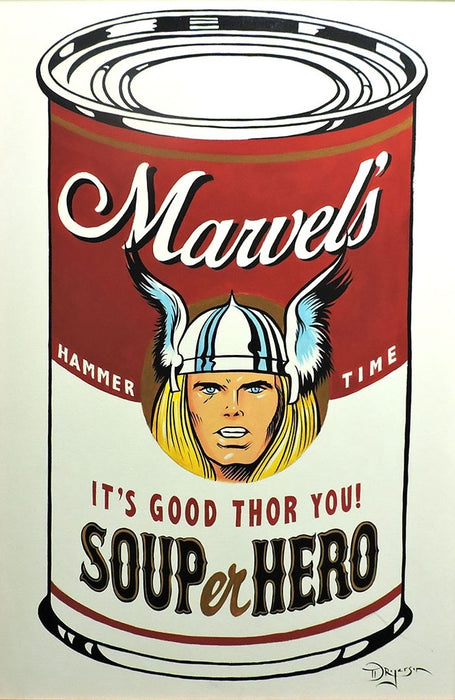 SOUPer Hero - Thor Original Painting by Tim Rogerson
