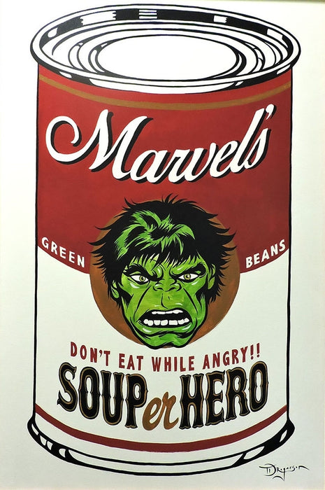 SOUPer Hero - Incredible Hulk Original Painting by Tim Rogerson