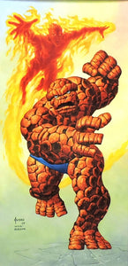 The Thing/Human Torch Original Painting by Joe Jusko