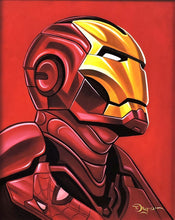Load image into Gallery viewer, Iron Man with Spider-Man Reflection Original Painting by Tim Rogerson