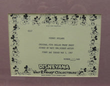 Load image into Gallery viewer, Disney Dollars Goofy Five Dollar Framed Proof Sheet