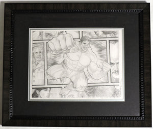 Hulk Beyond The Borders Framed Original Art by Randy Martinez
