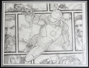 Iron Man Beyond The Borders Framed Original Art by Randy Martinez