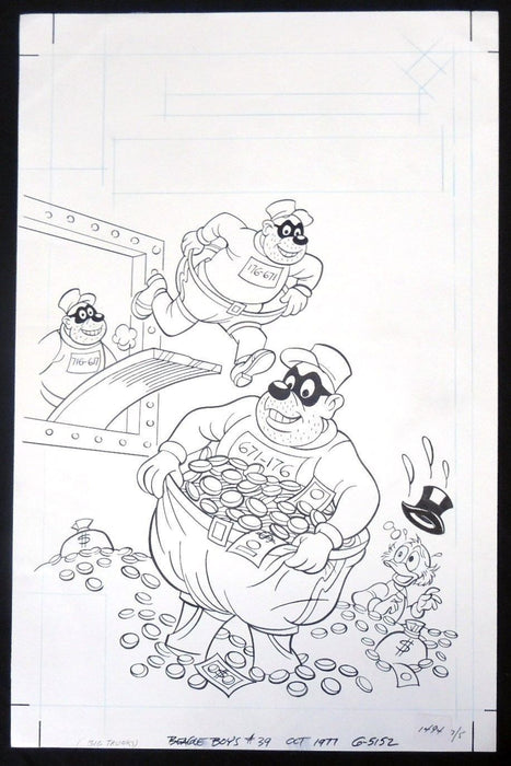 Beagle Boys #39 Original Cover Art by Bob Gregory for Gold Key