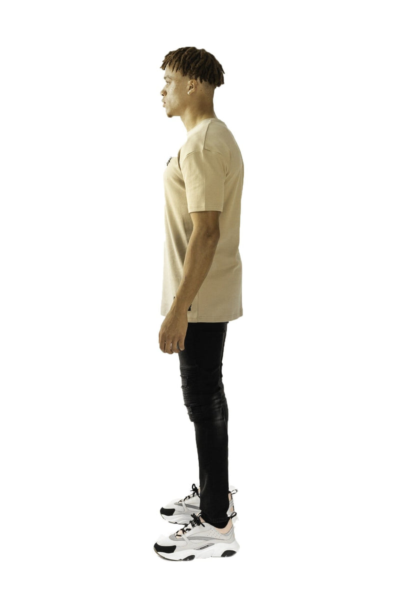 RINSLEY OVERSIZED T-SHIRT - STONE